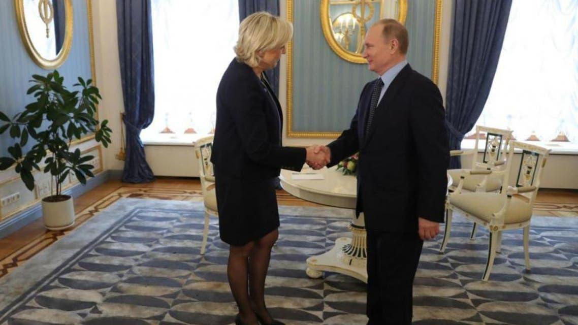لقاء بوتين ولوبان في الكرملين