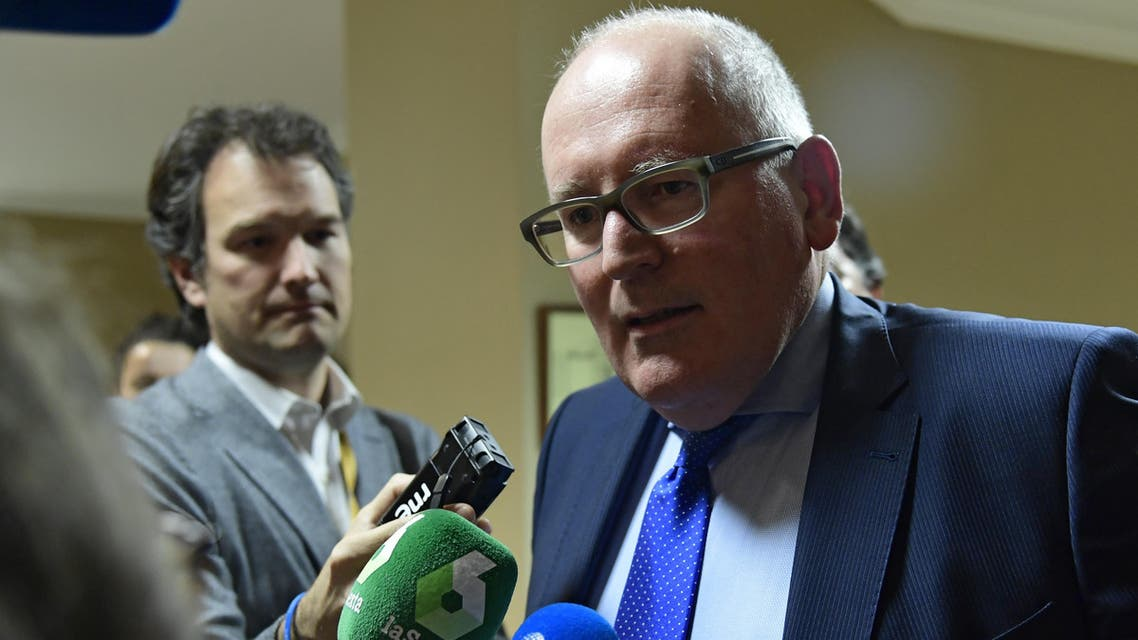 Frans Timmermans نائب رئيس المفوضية الأوروبية فرانس تيمرمانس