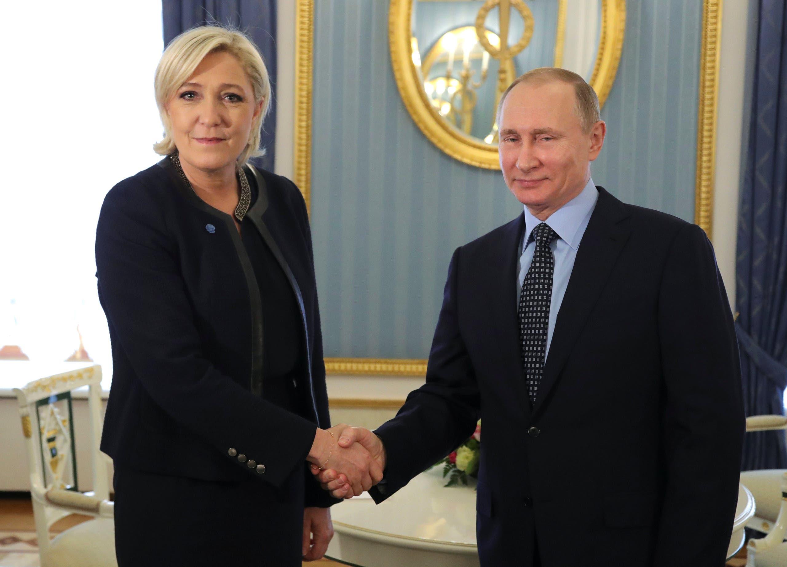 من لقاء مارين لوبان بفلاديمير بوتين