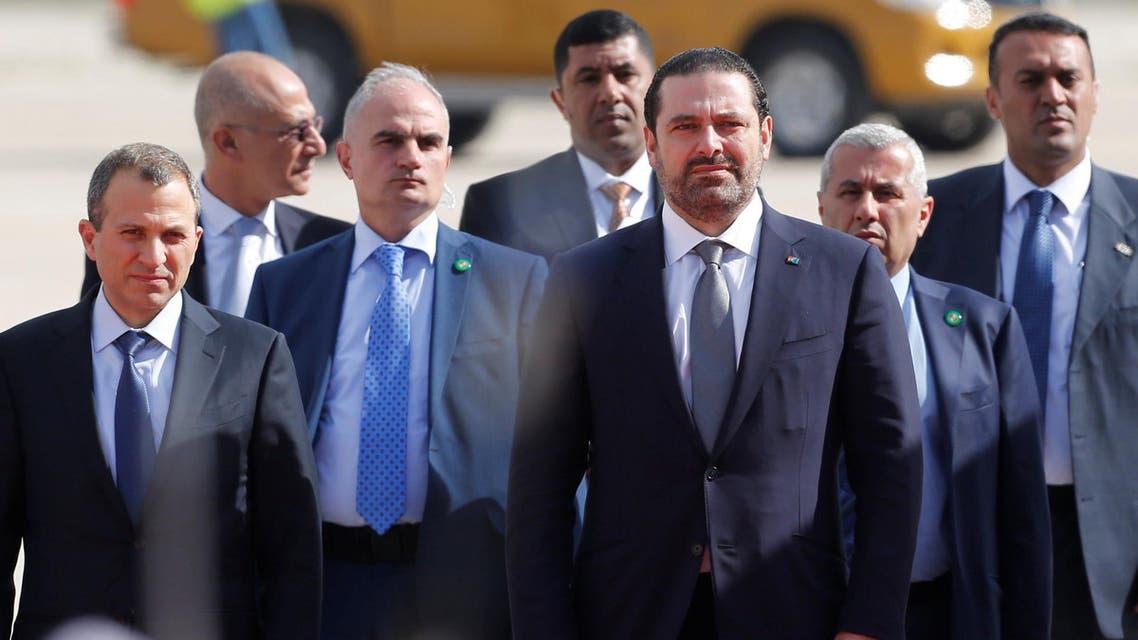 Lebanon's Prime Minister Saad al-Hariri arrives at the Queen Alia International Airport in Amman, Jordan March 28, 2017