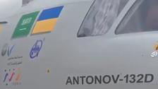 """فيديو.. أول رحلة جوية لطائرة """"AN-132"""" العسكرية السعودية"""