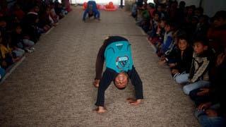 بفسحة أمل.. هكذا انتظر أطفال العراق غوتيريس في حسن شام