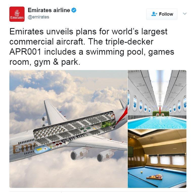 موقع طيران الإمارات على تويتر