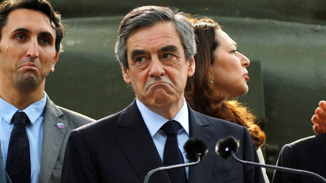 """Francois Fillon, former French Prime Minister, member of the Republicans political party and 2017 presidential election candidate of the French centre-right, reacts as he visits the Mont Faron """"Memorial du Debarquement et de la Liberation en Provence"""" as part a campaign visit in Toulon, France, March 31, 2017"""