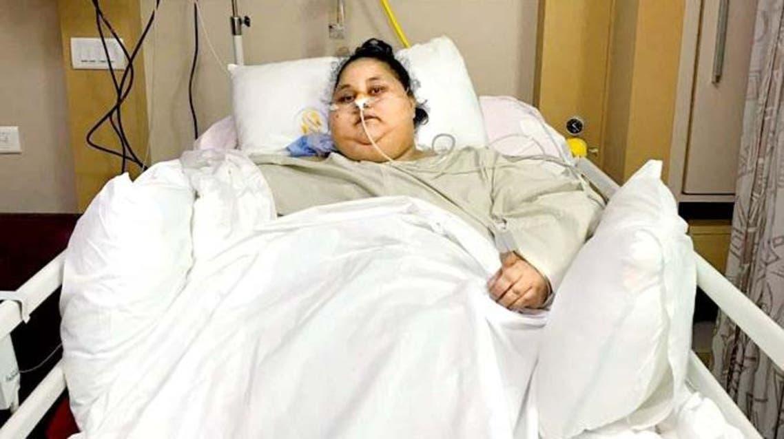 إيمان عبد العاطي - المصرية التي تزن نصف طن