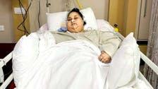 أحدث فيديو لصاحبة النصف طن بعد تحسن حالتها في الإمارات