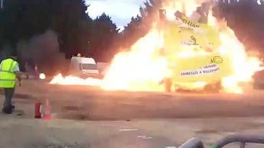 شاهد الانفجار الهائل للنيران في حادثة الكرنفال بباريس
