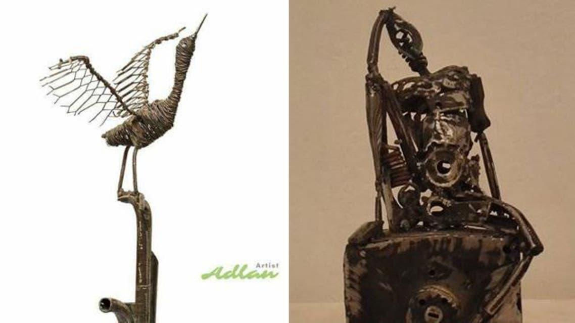 منحوتات فنان سوداني