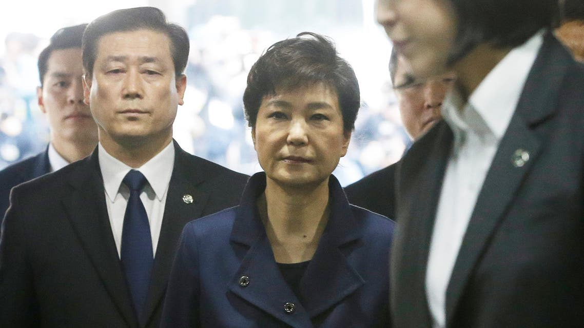 Ousted South Korean President Park Geun-hye arrives for questioning on her arrest warrant. (File photo: Reuters)