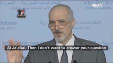 Syria UN Ambassador Bashar al-Ja'afari refuses Al Arabiya's question… again