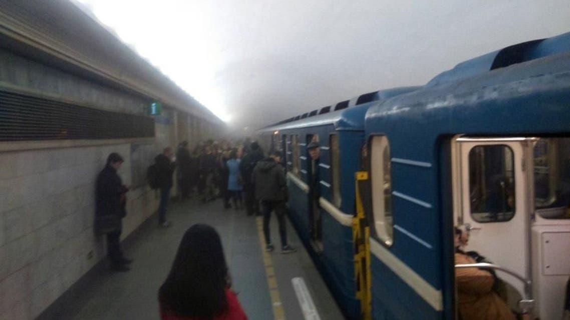 صور من تفجيري مترو الأنفاق في سان بطرسبرغ في روسيا