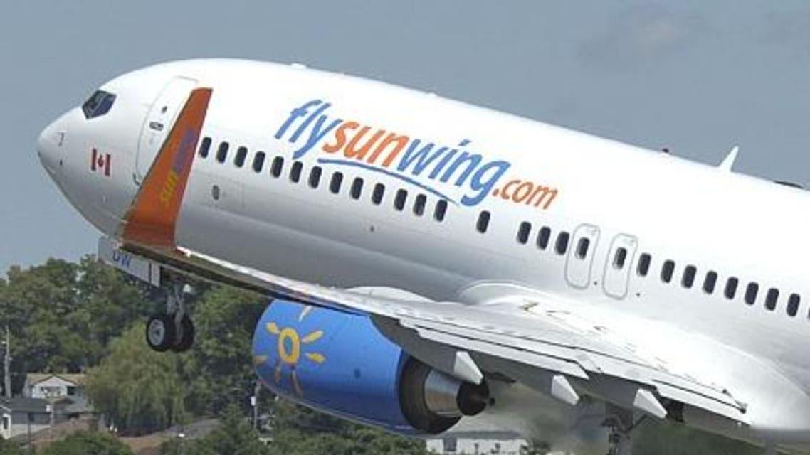 """طائرة من شركة """"صن ونج"""""""