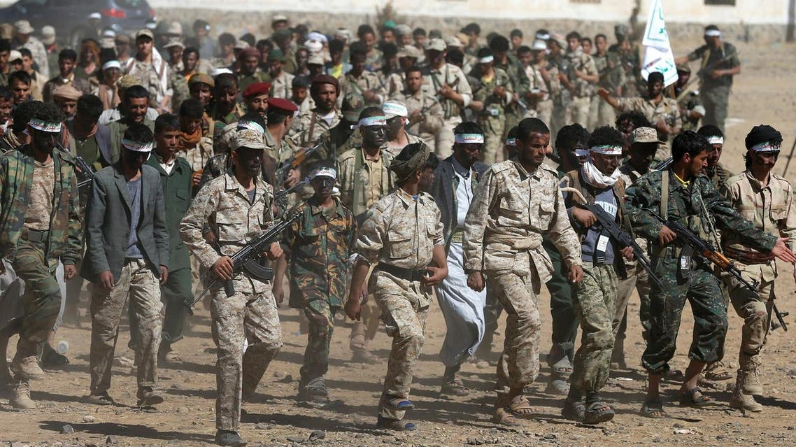 Newly recruited Houthi fighters parade before heading to the frontline to fight against government forces, in Sanaa, Yemen January 3, 2017 (File Photo: Reuters/Khaled Abdullah)