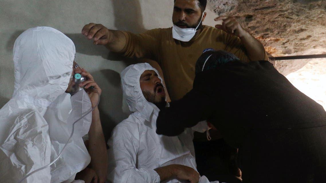100 قتيل و400 مصاب بمجزرة بالكيمياوي في إدلب
