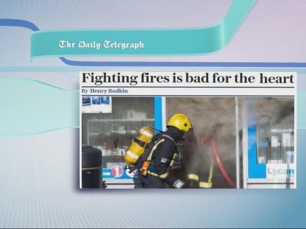 مكافحة الحرائق سيئة للقلب..