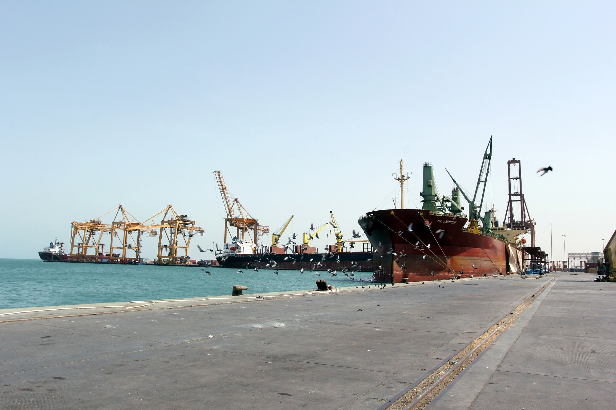 Hudaydah port and province is controlled by the Iran-aligned Houthis and has been the entry point for 70 percent of Yemen's food supplies. (Reuters)