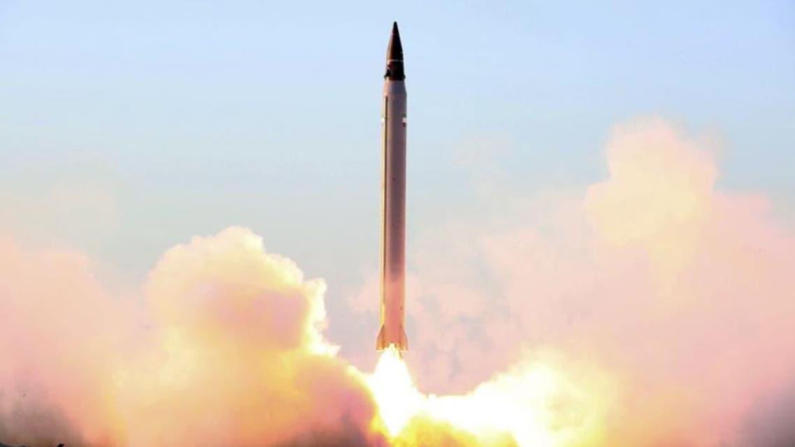 اختبار إحدى الصواريخ الإيرانية