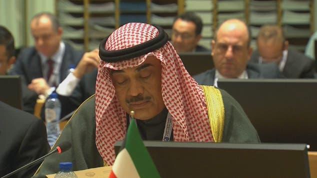 صباح خالد الحمد الصباح النائب الأول لرئيس مجلس الوزراء ووزير الخارجية الكويتي