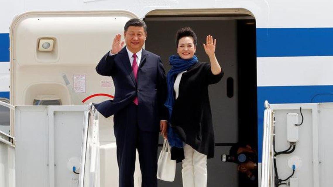 الرئيس الصيني لدى وصوله إلى فلوريدا