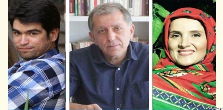 الصحفيين هنغامه شهيدي وإحسان مازندراني ومراد ثقفي