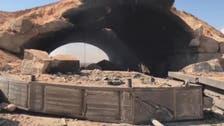 امریکی حملے کے بعد الشعیرات کے فوجی اڈے کا منظر