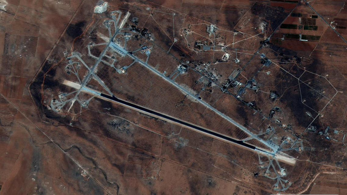 Shayrat Airfield in Homs, Syria is seen in this DigitalGlobe satellite image released by the U.S. Defense Department on April 6, 2017 after announcing U.S. forces conducted a cruise missile strike against the Syrian Air Force airfield. (reuters)