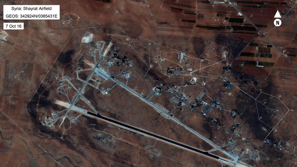 This image released by the US Department of Defense, shows the Shayrat airfield in Syria on October 7, 2016. (AFP)