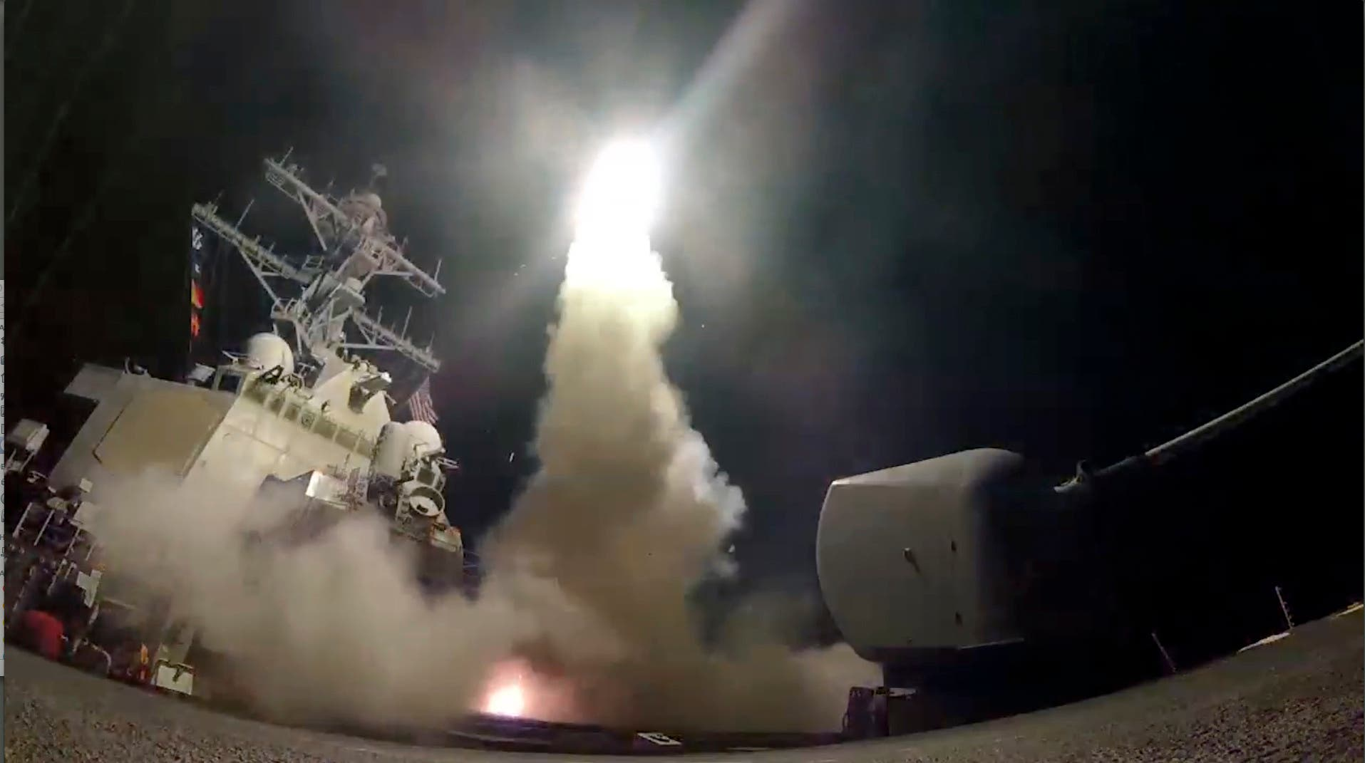 الضربة العسكرية الأميركية على قاعدة الشعيرات قرب حمص