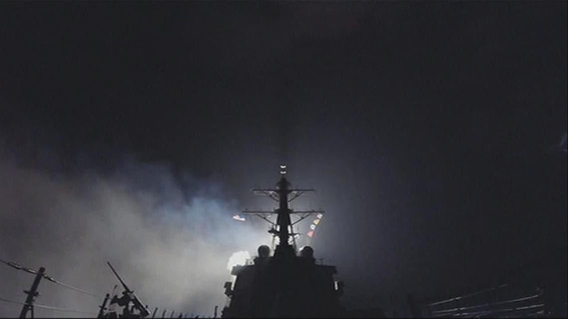 THUMBNAIL_ لحظات إطلاق صواريخ توماهوك على مطار الشعيرات العسكري