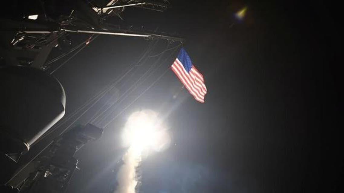 """إطلاق صاروخ أميركي من مدمرة للبحر المتوسط على قاعدة """"الشعيرات"""" السورية"""
