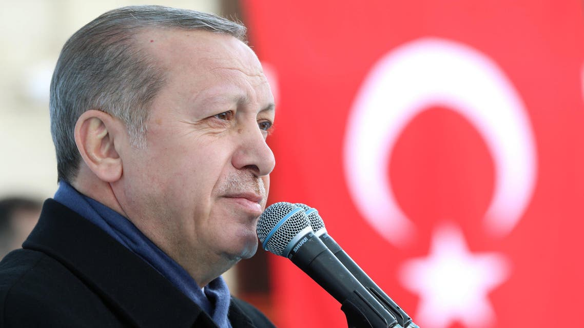 Turkish President Tayyip Erdogan speaks during a ceremony in Eskisehir, Turkey, March 17, 2017. (Reuters)