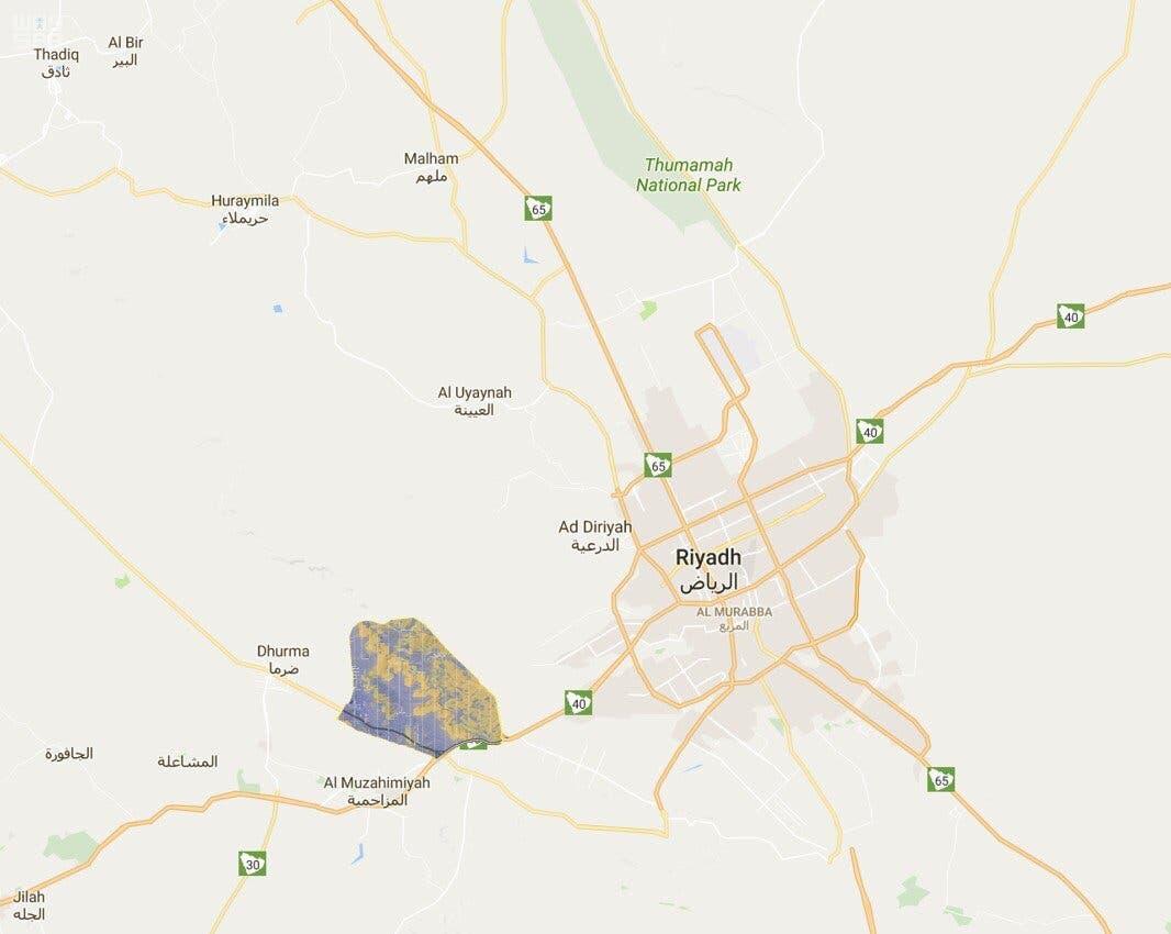 خريطة لموقع المدينة