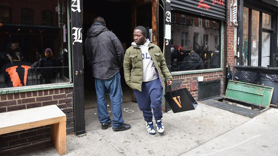 A view of Tupac's Powamekka Cafe and Tupac by Vlone store opening on April 7, 2017 in New York City. (AFP)
