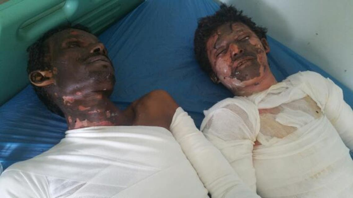 ضحايا حريق الحديدة
