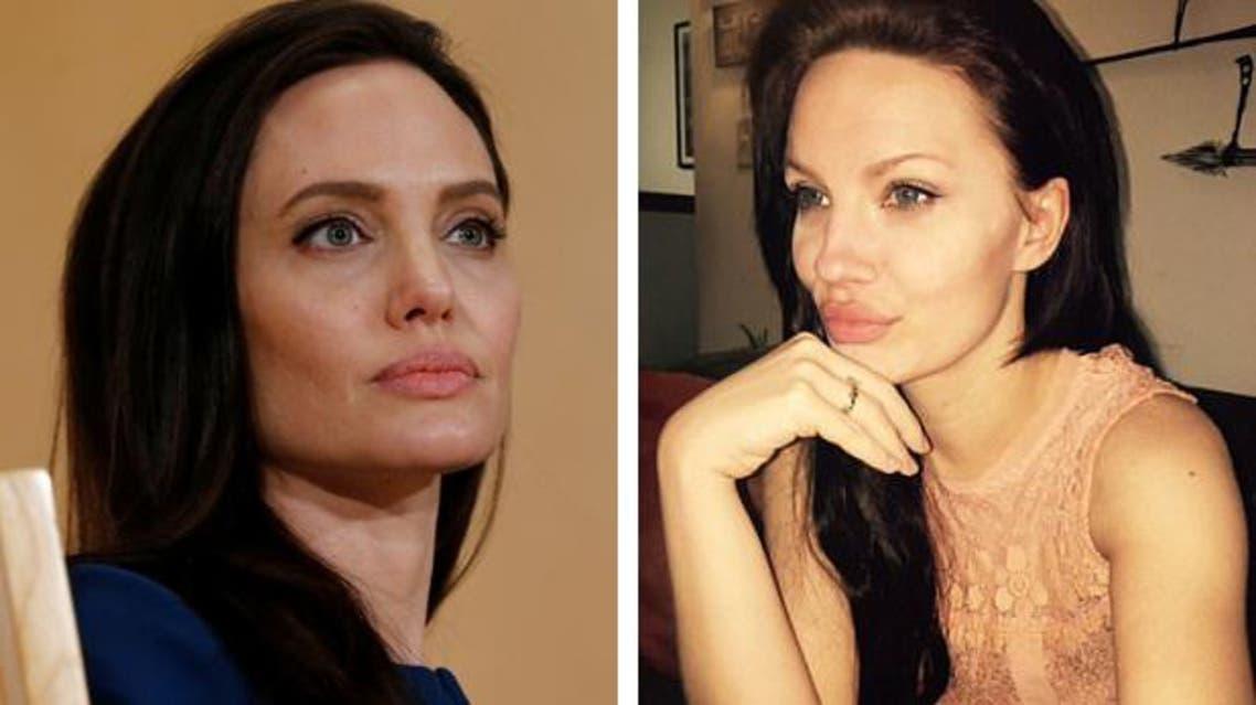 Angelina Jolie and look alike