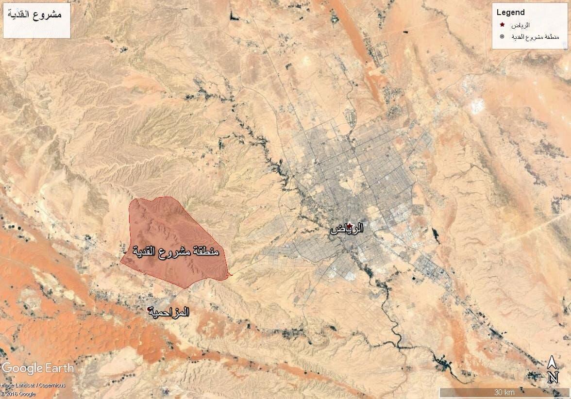 موقع مشروع أكبر مدينة ترفيهية في السعودية