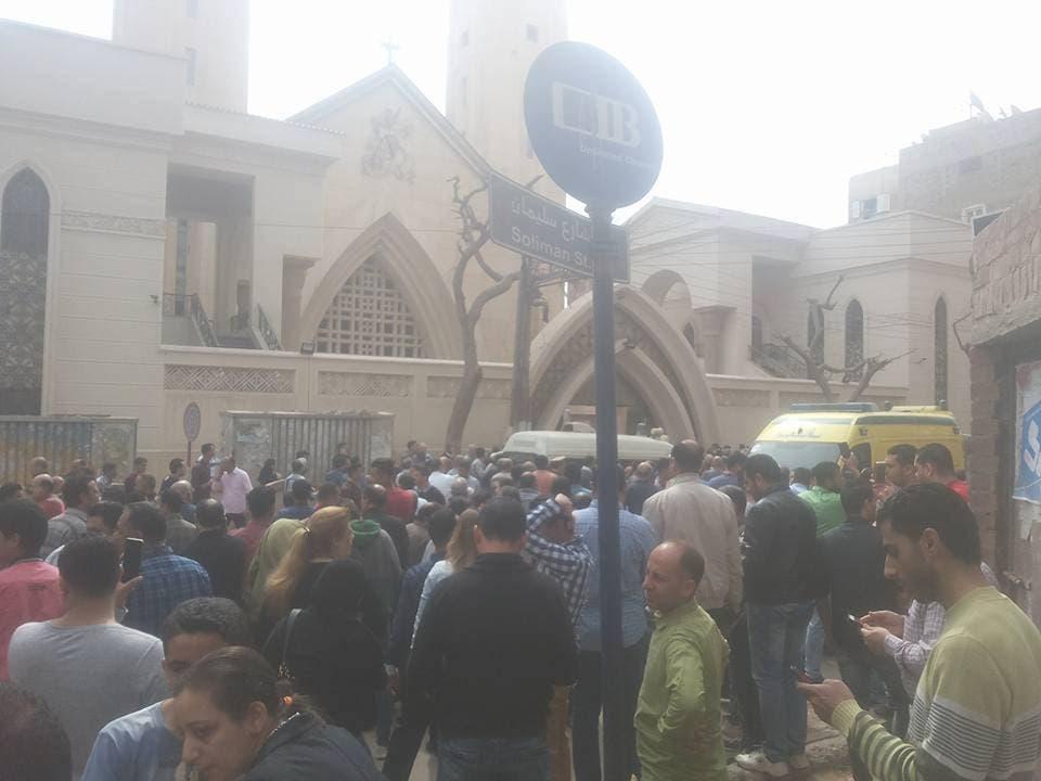 انفجار كنيسة طنطا