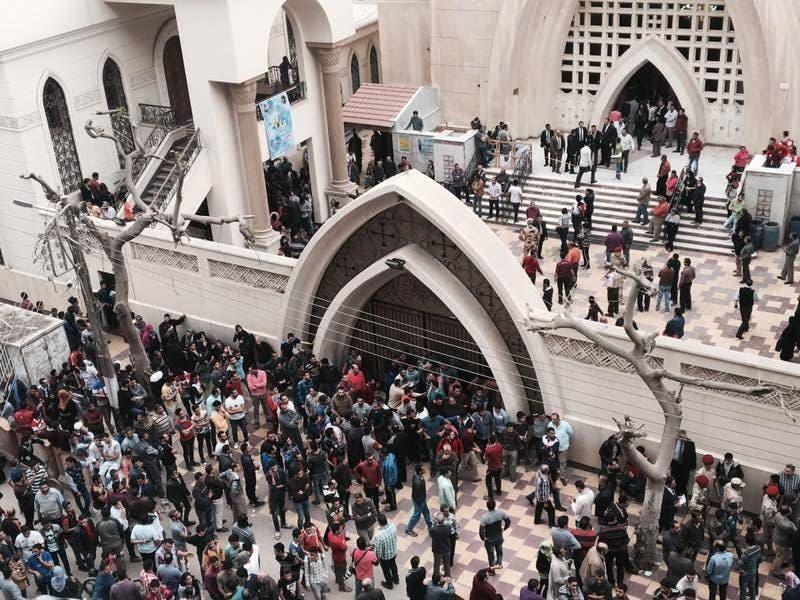 كنيسة طنطا بعد التفجير