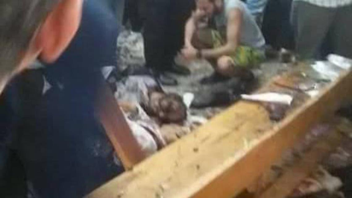 الصور الأولية لتفجير كنيسة طنطا شمال القاهرة