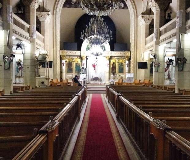 الكنيسة قبل التفجير