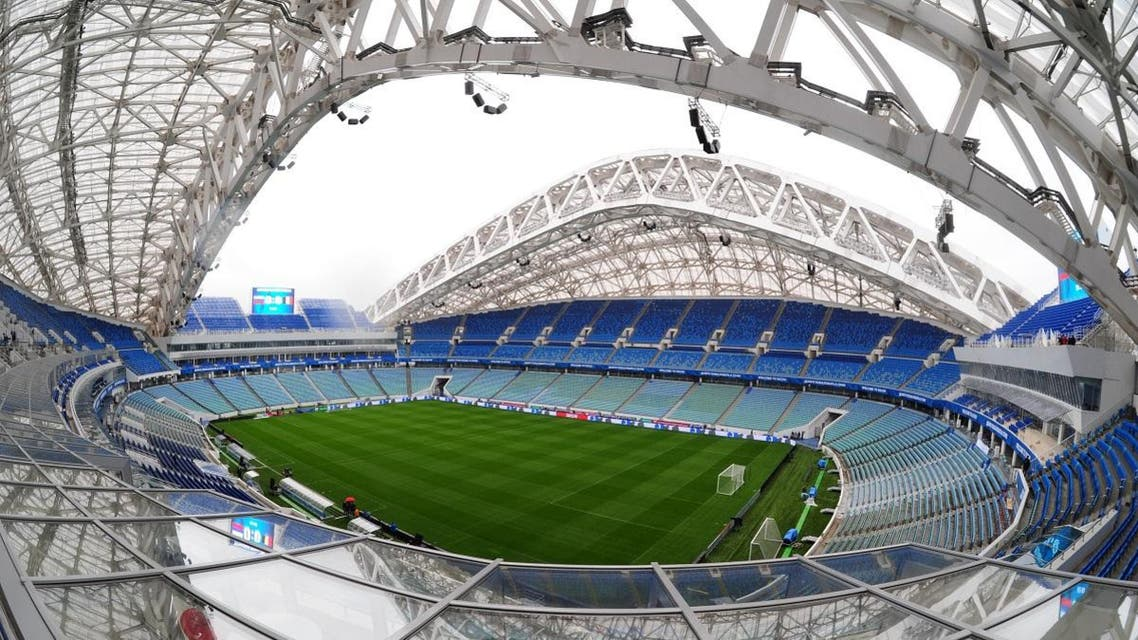 A general view taken on March 27, 2017 shows the Fisht Arena in Sochi. (AFP)