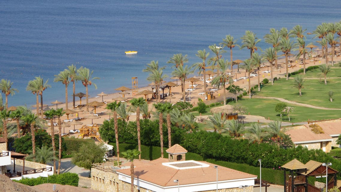 A picture taken on July 10, 2013 shows the facilities of the Hilton Taba Resort on the East coast of Egypt's Sinai Peninsula.
