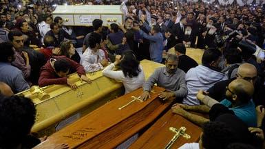 حداد وحزن أثناء تشييع ضحايا تفجير الكنيسة في طنطا