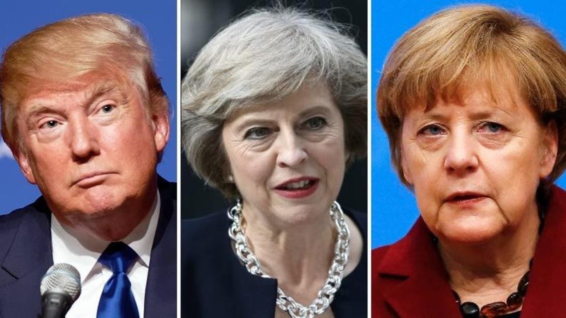 """May and Merkel expressed support for the US action and agreed with Trump """"on the importance of holding Syrian President Bashar al-Assad accountable"""". (Reuters/AFP/AP)"""