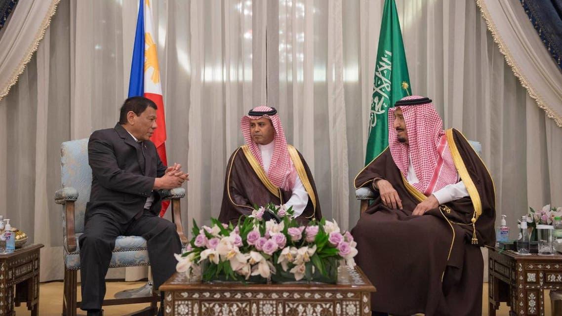 الملك سلمان ورئيس الفلبين