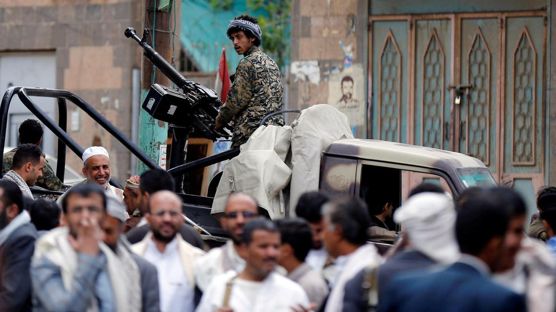 A Houthi militant mans a machine gun mounted on a patrol truck as he secures a vigil marking the anniversary of a double bomb attack inside a mosque during prayers that killed dozens of worshippers in Sanaa, Yemen, September 2, 2016. (reuters