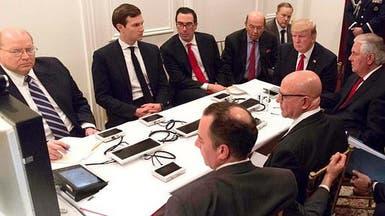 """أجهزة """"غامضة ومجهولة"""" أمام ترمب وهو يضرب سوريا"""