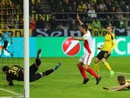 موناكو يهزم دورتموند ويقترب من نصف النهائي