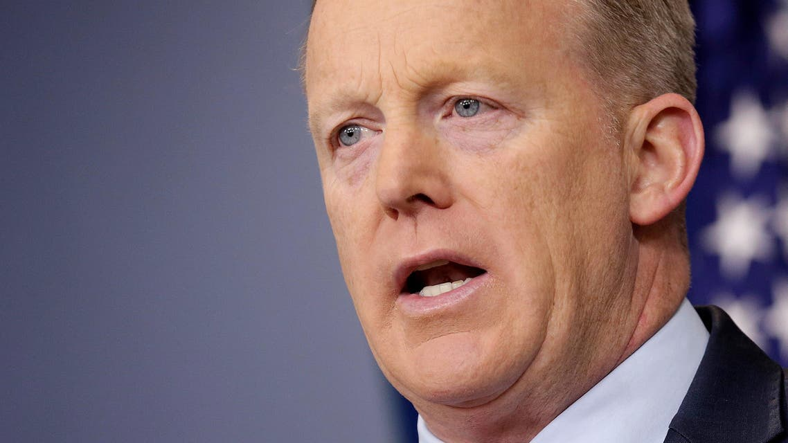 """White House Press Secretary Sean Spicer apologized Tuesday for making an """"inappropriate and insensitive"""" comparison to the Holocaust. (Reuters)"""