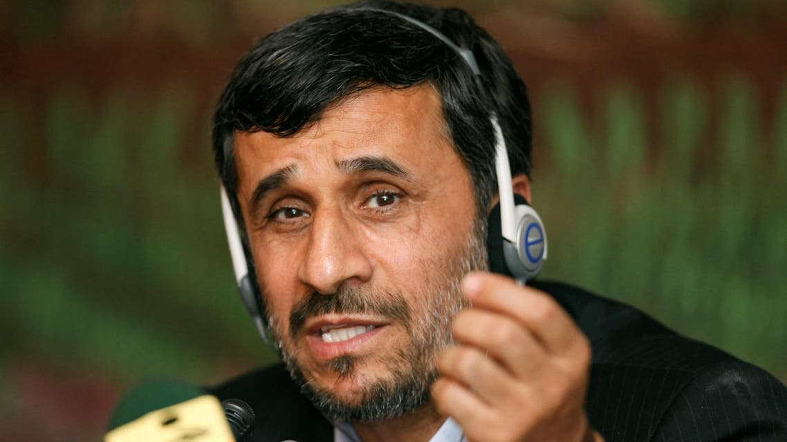 Mahmoud Ahmadinejad during a news conference after 25th Meeting of the Standing Committee for Economic and Commercial Cooperation of the OIC in Istanbul November 9, 2009. (Reuters)